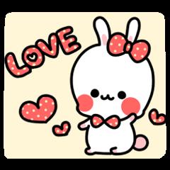 Cute white rabbit!