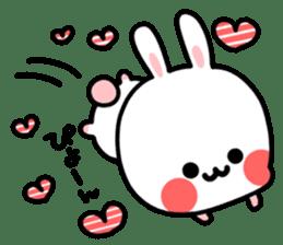 Cute white rabbit! sticker #6648416