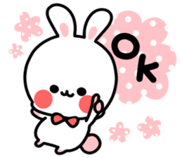 Cute white rabbit! sticker #6648418