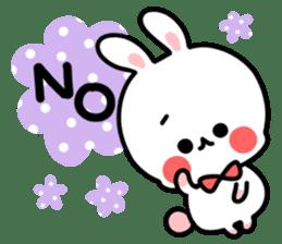 Cute white rabbit! sticker #6648419
