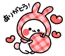 Cute white rabbit! sticker #6648421