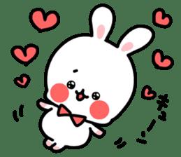 Cute white rabbit! sticker #6648424