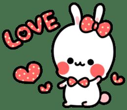 Cute white rabbit! sticker #6648426