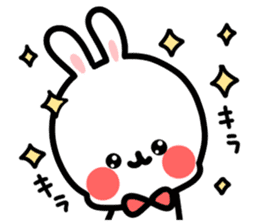 Cute white rabbit! sticker #6648429