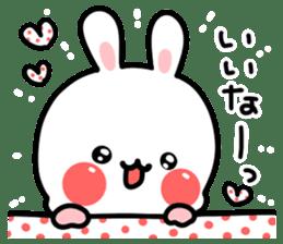 Cute white rabbit! sticker #6648432