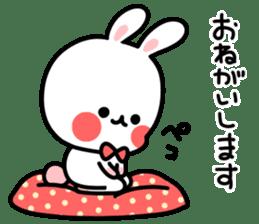 Cute white rabbit! sticker #6648434
