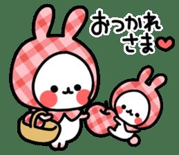 Cute white rabbit! sticker #6648435