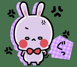 Cute white rabbit! sticker #6648437