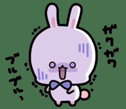 Cute white rabbit! sticker #6648439