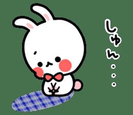 Cute white rabbit! sticker #6648440