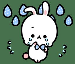 Cute white rabbit! sticker #6648441