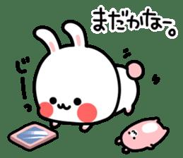 Cute white rabbit! sticker #6648443