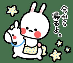 Cute white rabbit! sticker #6648444