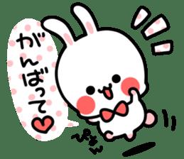 Cute white rabbit! sticker #6648445
