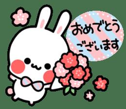 Cute white rabbit! sticker #6648448
