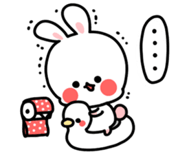 Cute white rabbit! sticker #6648449