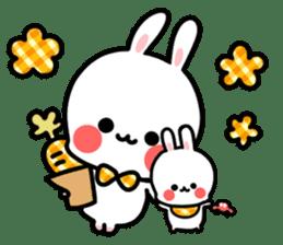 Cute white rabbit! sticker #6648450
