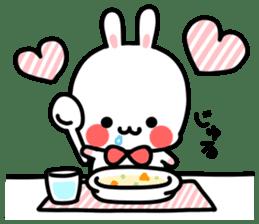 Cute white rabbit! sticker #6648451