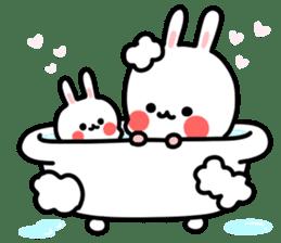 Cute white rabbit! sticker #6648452