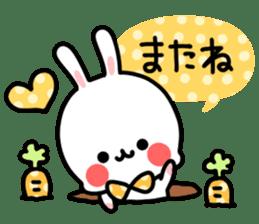 Cute white rabbit! sticker #6648454