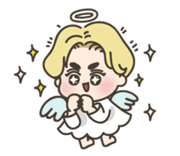 angel boy 'hoi' sticker #6649378