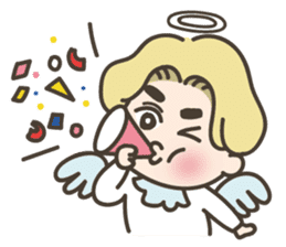 angel boy 'hoi' sticker #6649380