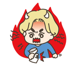 angel boy 'hoi' sticker #6649385