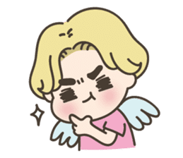 angel boy 'hoi' sticker #6649390