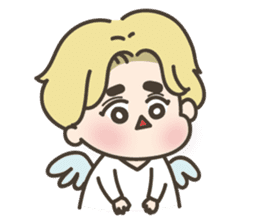 angel boy 'hoi' sticker #6649393