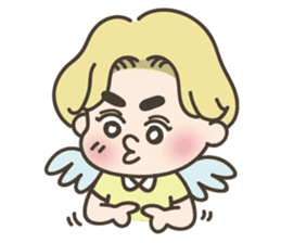 angel boy 'hoi' sticker #6649400