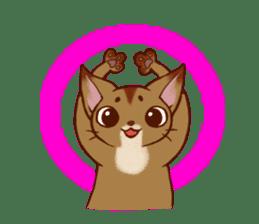CAT-Abyssinian sticker #6658290