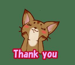 CAT-Abyssinian sticker #6658292