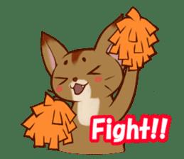 CAT-Abyssinian sticker #6658294