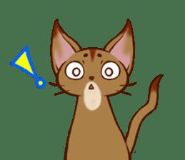 CAT-Abyssinian sticker #6658296
