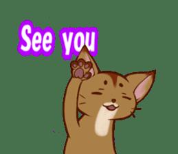 CAT-Abyssinian sticker #6658298