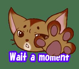 CAT-Abyssinian sticker #6658300