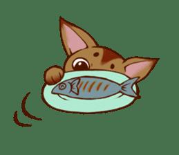CAT-Abyssinian sticker #6658305
