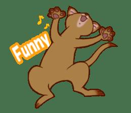 CAT-Abyssinian sticker #6658311