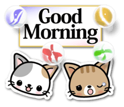Japanese Style Cat Sticker ( English ) sticker #6669777