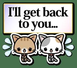 Japanese Style Cat Sticker ( English ) sticker #6669779
