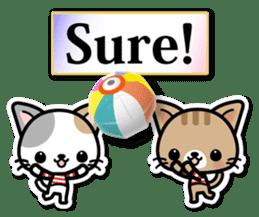 Japanese Style Cat Sticker ( English ) sticker #6669786