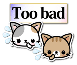 Japanese Style Cat Sticker ( English ) sticker #6669789