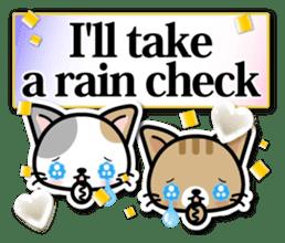 Japanese Style Cat Sticker ( English ) sticker #6669791