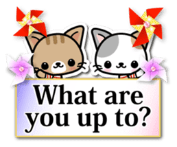 Japanese Style Cat Sticker ( English ) sticker #6669792