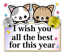 Japanese Style Cat Sticker ( English ) sticker #6669815