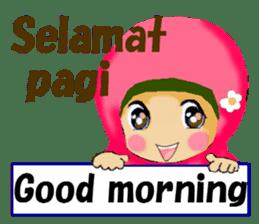 hijabista. 3. Indonesian+English sticker #6676984
