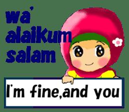 hijabista. 3. Indonesian+English sticker #6676986
