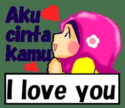 hijabista. 3. Indonesian+English sticker #6676987