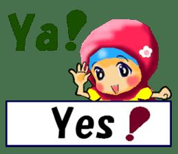 hijabista. 3. Indonesian+English sticker #6676988