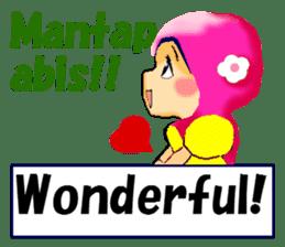 hijabista. 3. Indonesian+English sticker #6676991
